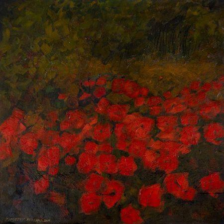 poppies oil on panel