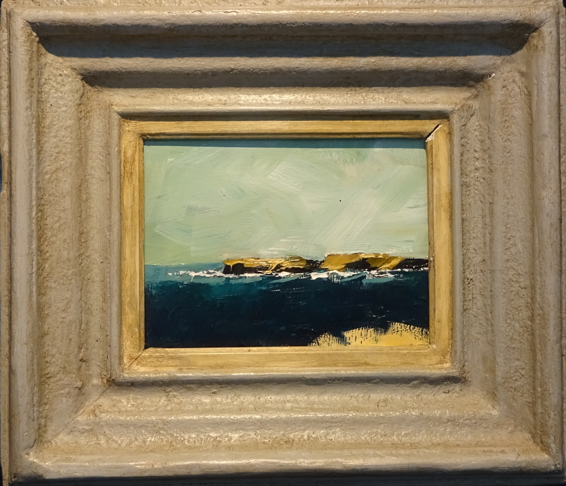 Oil on board - coast of Brittany