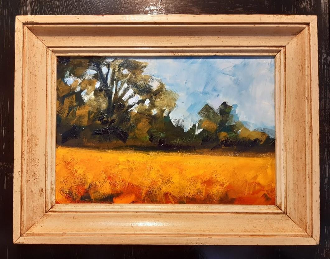 Original oil on board - Harvest time Brittany