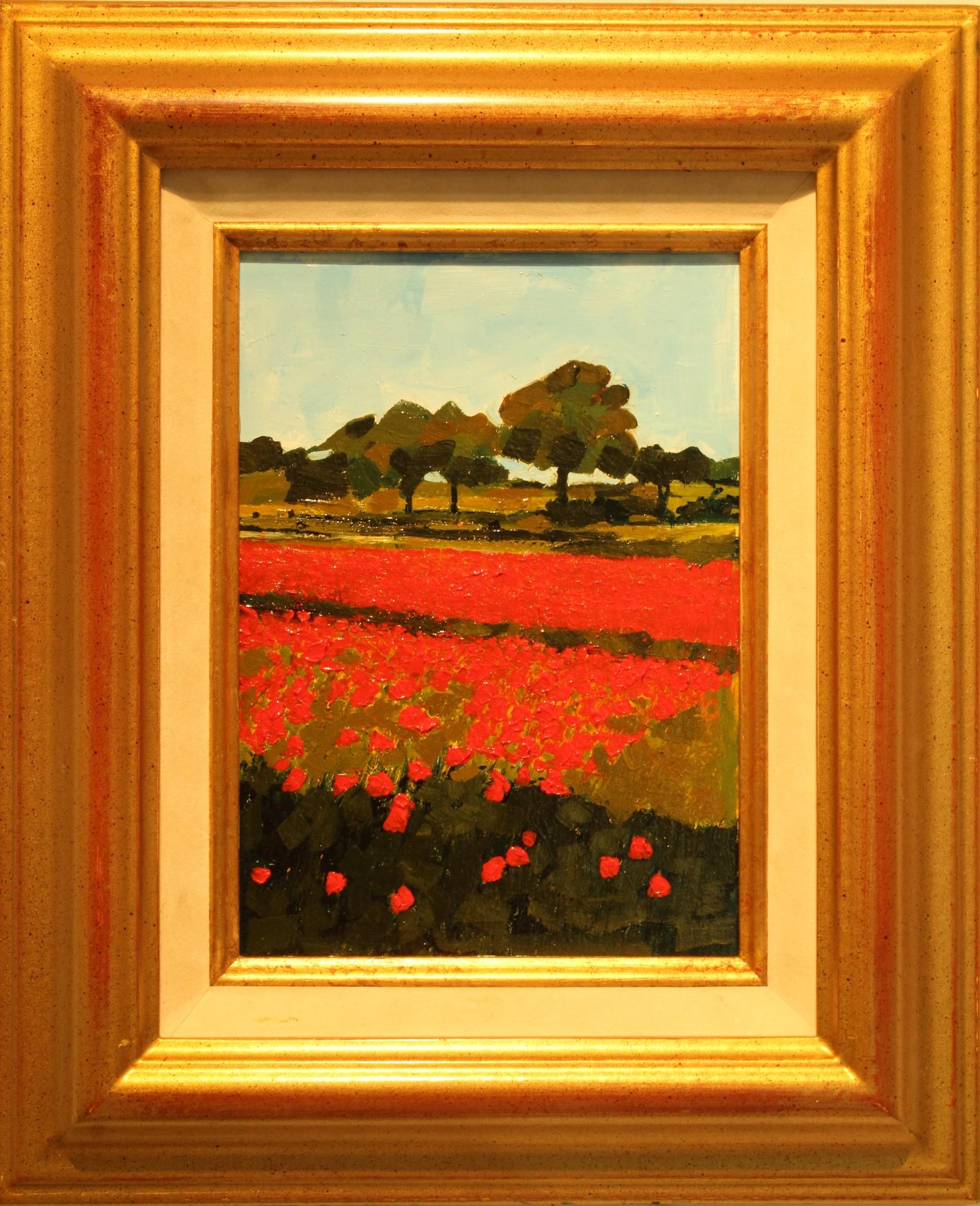 Oil on board - Kinver poppy field