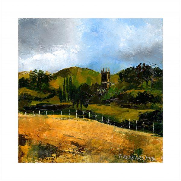 Oil on Canvas - Claverley Church