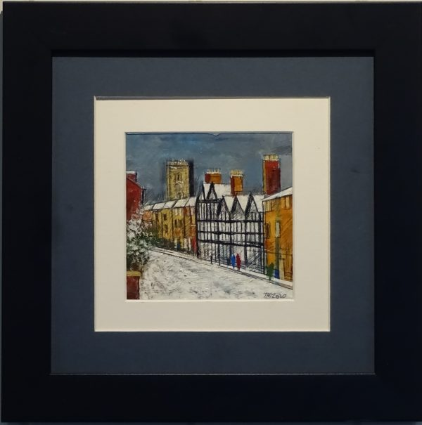 Oil on board - First snow Bewdley